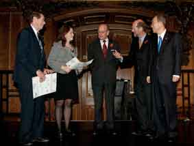 BIC reps receive certificatesfrom Prince Philip and SG
